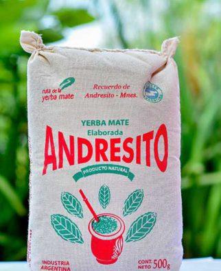 Yerba Mate Andresito bolsa de recuerdo de Andresito Misiones de 500 g