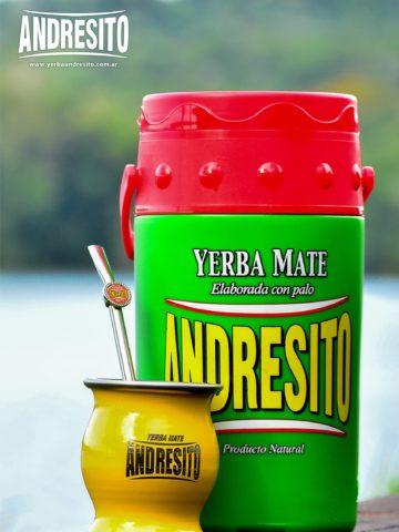 Termolar yerba mate andresito con tapa rojo