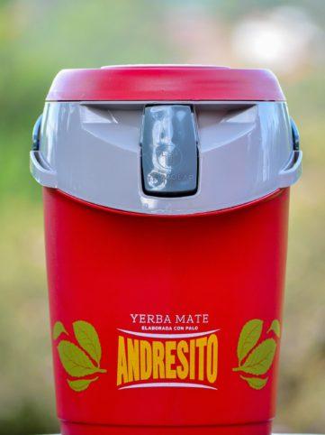 Termolar yerba mate andresito color rojo de 2.5 litros